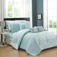Chic Home Isobelle 10-Piece King Comforter Set in Aqua