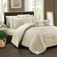 Chic Home Isobelle 10-Piece King Comforter Set in Beige