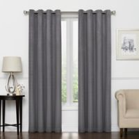 Vue Signature Amina 95-Inch Grommeted Window Curtain Panel in Charcoal