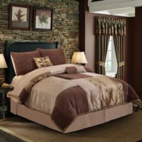 Back to Nature 7-Piece Full Comforter Set in Mocha