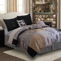Back to Nature 7-Piece Queen Comforter Set in Charcoal
