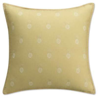 Heritage Breezes Pineapple 16 Inch Square Throw Pillow In Grey