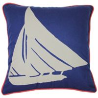 KAS Seneca 18-Inch Blue Fish Throw Pillow in Blue