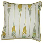 KAS Seneca Oar 18-Inch Square Throw Pillow in Yellow