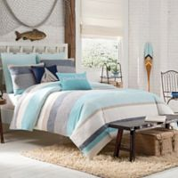 KAS Seneca Full/Queen Duvet Cover in Aqua