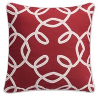 KAS Seneca 16-Inch Twill Tape Throw Pillow in Red