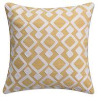 KAS Seneca 16-Inch Twill Tape Throw Pillow in Yellow