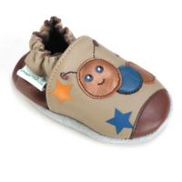 Momo Baby Size 6-12M Caterpillar Leather Soft Sole Shoe in Taupe