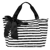 Thea Thea Santa Monica Border Diaper Bag Black/White