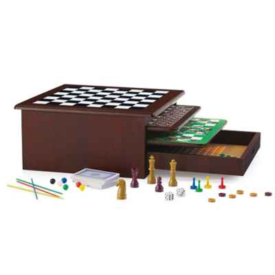 12-in-1 Wood Game Center
