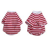 Pretty Pet X-Small Striped Top in Red/White