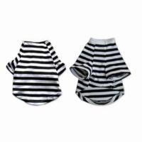 Pretty Pet X-Small Striped Top in Black/White