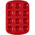 Wilton® Ultra-Flex™ Nonstick 12-Cup Silicone Mini Muffin Pan in Red