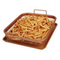 2-Piece Copper Crisper Oven Air Fryer Pan Set