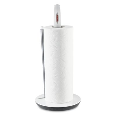 Leifheit Weighted Countertop Paper Towel Holder In White