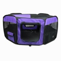 Portable Pet Large Soft Play Pen in Purple