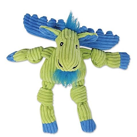 HuggleHounds® Plush Corduroy Durable Knotties Moose Dog