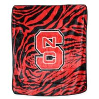 North Carolina State University Soft Raschel Throw Blanket