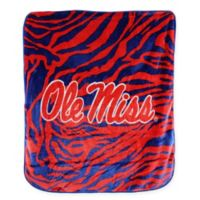 Ole Miss Soft Raschel Throw Blanket