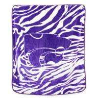 Kansas State University Soft Raschel Throw Blanket