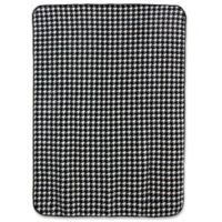 University of Alabama Houndstooth Soft Raschel Throw Blanket