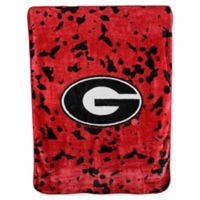 University of Georgia Oversized Soft Raschel Throw Blanket