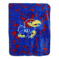University of Kansas Oversized Soft Raschel Throw Blanket