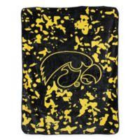 University of Iowa Oversized Soft Raschel Throw Blanket