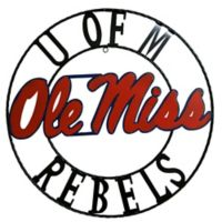 Ole Miss 18-Inch Wrought Iron Wall Décor