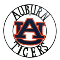 Auburn University 18-Inch Wrought Iron Wall Décor