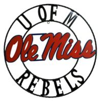 Ole Miss 24-Inch Wrought Iron Wall Décor
