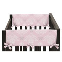 Sweet Jojo Designs Alexa Reversible Short Crib Rail Guards in Pink/Grey