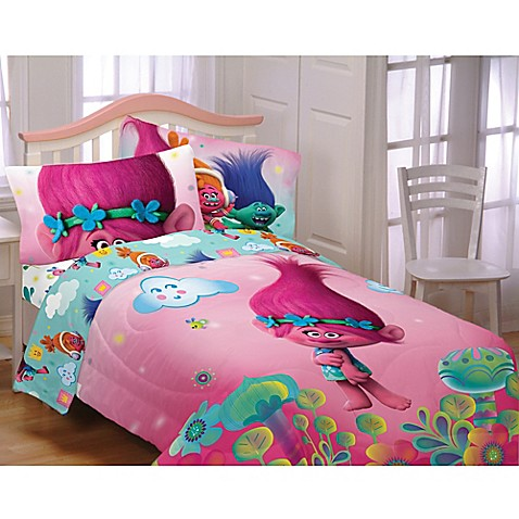 Trolls Hugs Harmony Twin Full Comforter Bed Bath Amp Beyond
