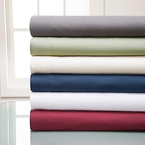 winter nights cotton flannel solid sheet set bed bath beyond. Black Bedroom Furniture Sets. Home Design Ideas