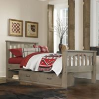 Hillsdale Highlands Harper Twin Bed with Storage in Driftwood