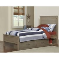 Hillsdale Highlands Twin Alex Bed with Storage in Driftwood