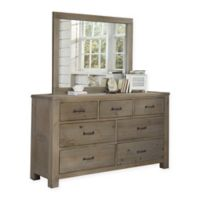 Hillsdale Highlands 7-Drawer Dresser with Mirror in Driftwood