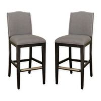 American Heritage Chase Bar Stool in Coastal Grey (Set of 2)