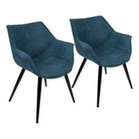 LumiSource Wrangler Accent Chairs in Blue (Set of 2)