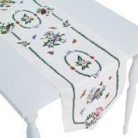Port Merion by Avanti Botanical Birds 72-Inch Table Runner in Ivory