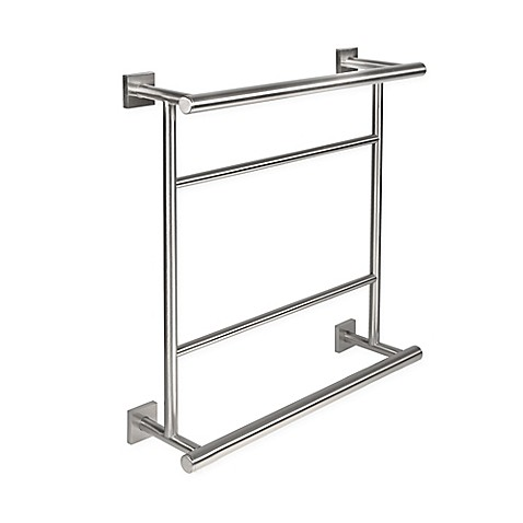 Buy Gatco Elevate Hotel Towel Centre Rack In Satin Nickel