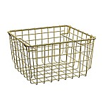 SALT 10.6-Inch Steel Storage Basket in Soft Gold