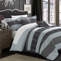 Chic Home Patrice 7-Piece Queen Duvet Cover Set in Grey