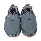 Robeez® Size 0-6M Geometric Print Moccasin Shoe in Blue