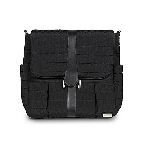 jj cole backpack diaper bag in black tri stitch buybuy baby. Black Bedroom Furniture Sets. Home Design Ideas