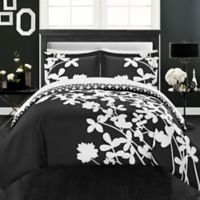 Chic Home Sire Reversible Queen Duvet Cover Set in Black