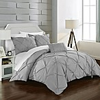 Chic Home Salvatore Queen Duvet Cover Set in Silver