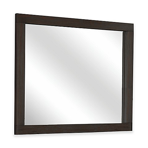 Buy hillsdale highlands 42 inch x 32 inch mirror in for Mirror 42 x 36