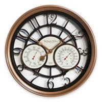 Sterling & Noble 23.5-Inch Outdoor/Indoor Wall Clock in Copper Finish