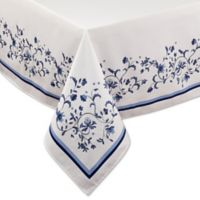 Port Merion by Avanti Blue Portmeirion 60-Inch x 120-Inch Oblong Tablecloth